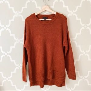 New Look Burnt Orange Crewneck Sweater Large